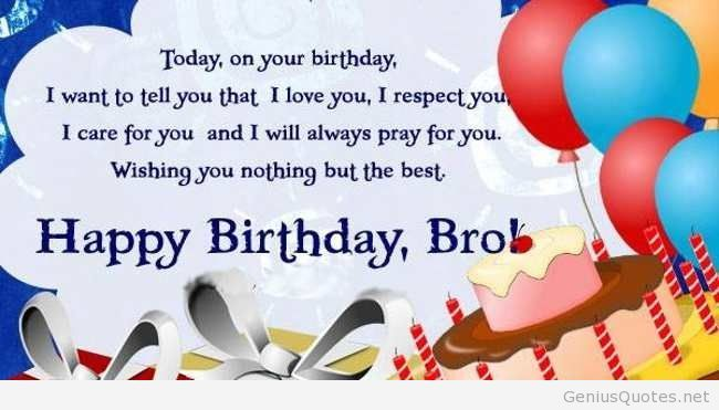 Happy Birthday Brother Quotes Bro