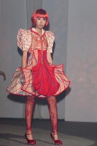 more fantastic anatomical gowns from China's fashion week