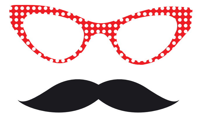 Geeky image in printable photo booth props templates