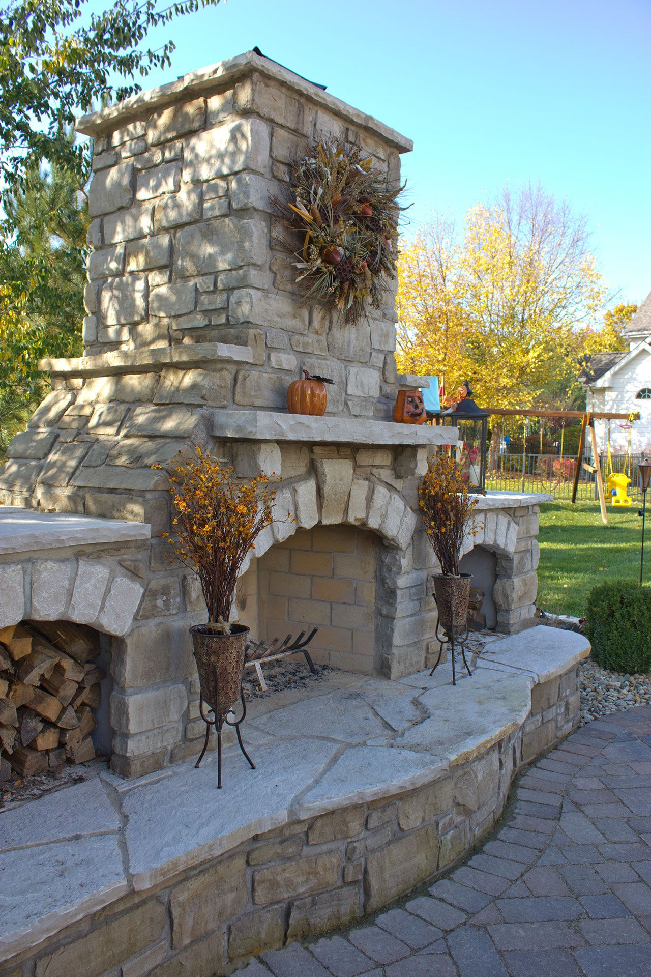 Fireplaces Fire Pits Pizza Ovens Image Gallery Green Guys St