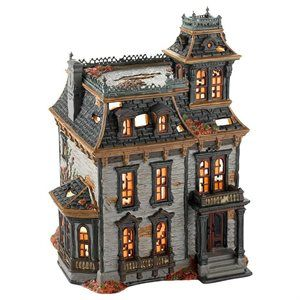 haunted light up mordecai mansion ceramic house spooky halloween decoration 1 of 1 - Ceramic Halloween Decorations