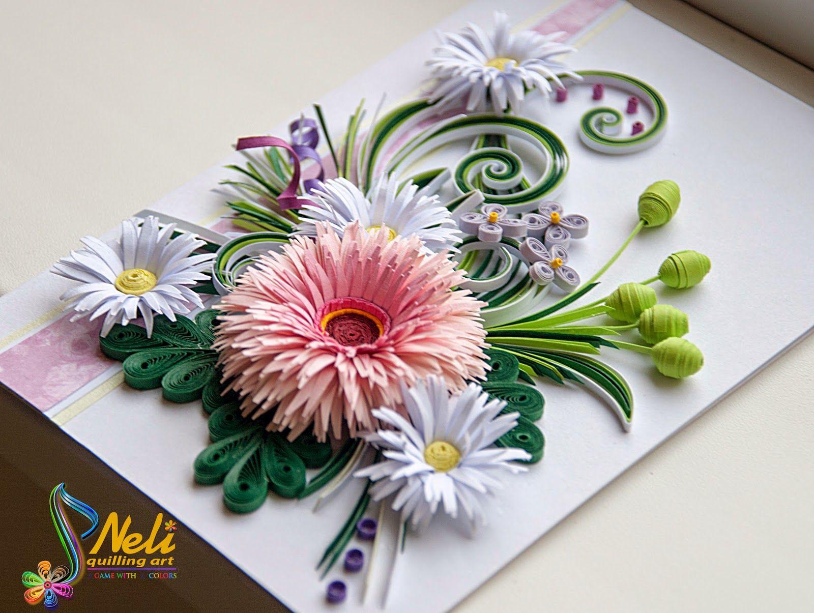 Мастер класс цветы для открытки, открыток