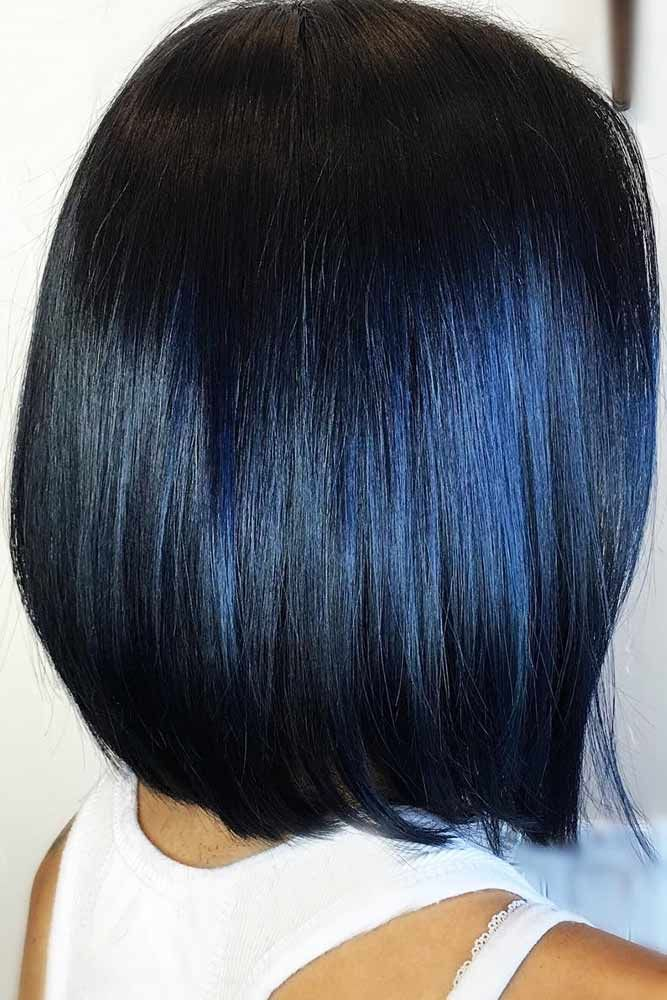 55 Tasteful Blue Black Hair Color Ideas To Try In Any