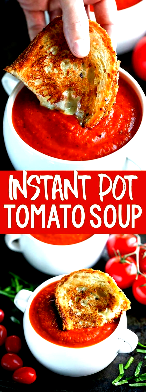 Instant Pot Tomato Soup is an easy peasy twist on a comfort food classic The IP locks in flavor and gives this vegetarian soup a slowsimmered taste in a fraction of the t...