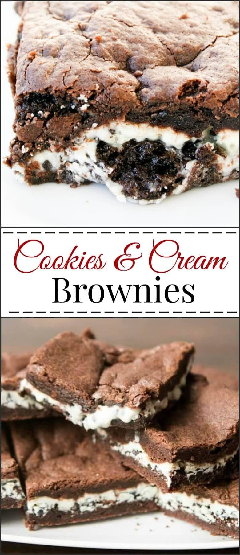 Cookies and Cream Brownies #cookiesandcreamcake