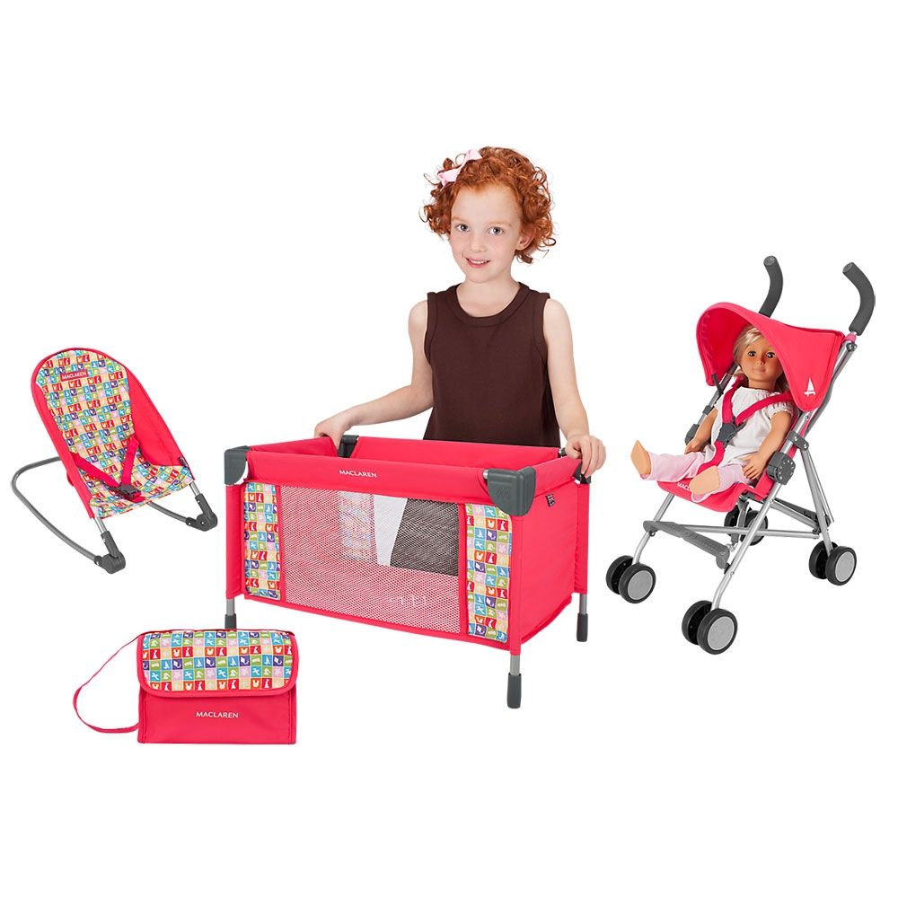 Infant Dolls Pram Maclaren Deluxe Activity Set Chiclets Baby Products