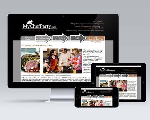 Skyberry Studio Portfolio My Chef Party Award Winning Website Design And Development For Home Catering Servic Web Design Website Design Design Development