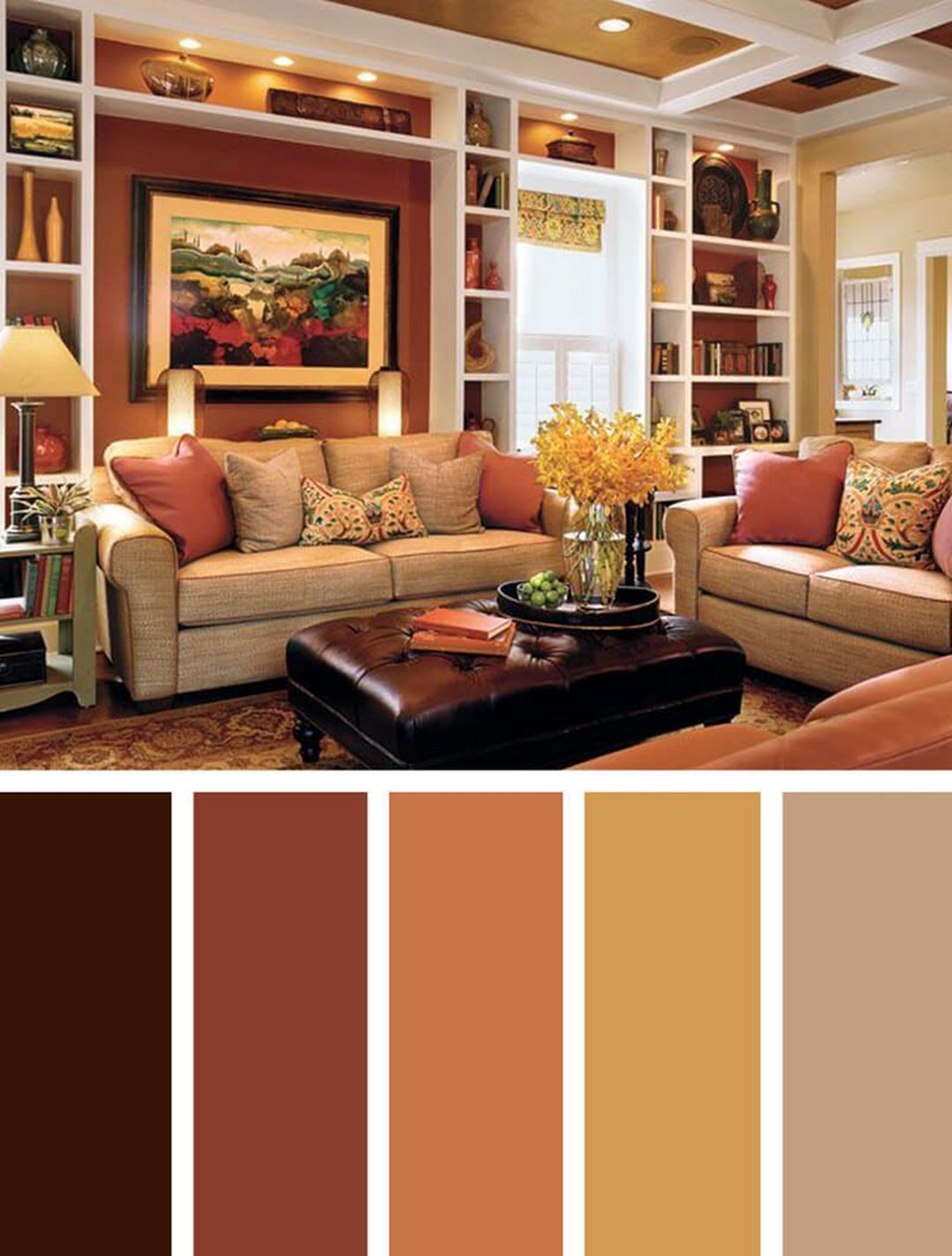 autumn living room color scheme ideas 2120 | brown living