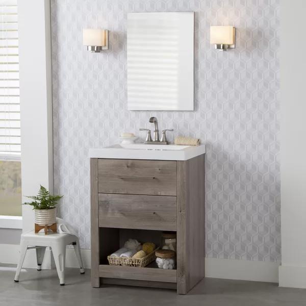 Union Rustic Rackers 25 Single Bathroom Vanity Set Wayfair Single Bathroom Vanity Bathroom Vanity Vanity Set