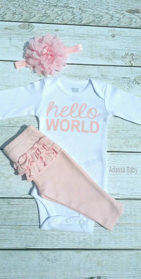 b31bcd2a1687 Newborn Outfit Newborn Take Home Outfit Baby Girl Outfit Baby Girl ...