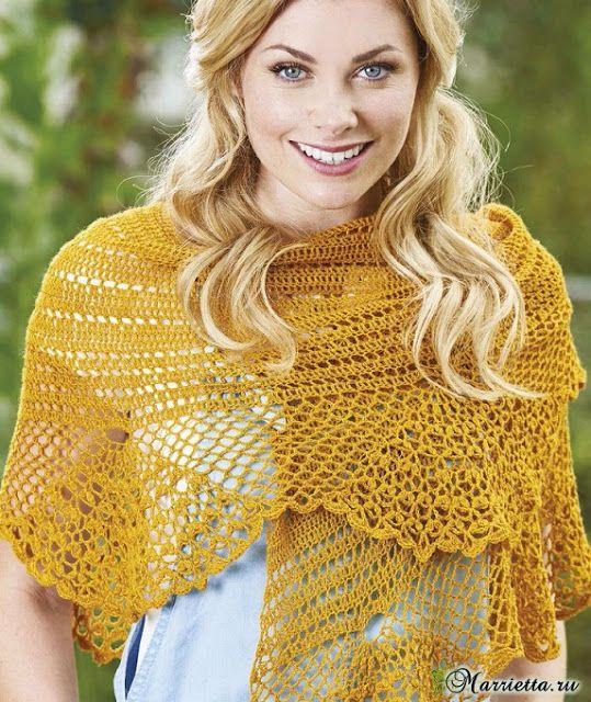 Materiales gráficos Gaby: Mantones | Chalina crochet 2 | Pinterest ...