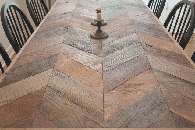 Herringbone Table Chevron Table Home Goods Decor Diy
