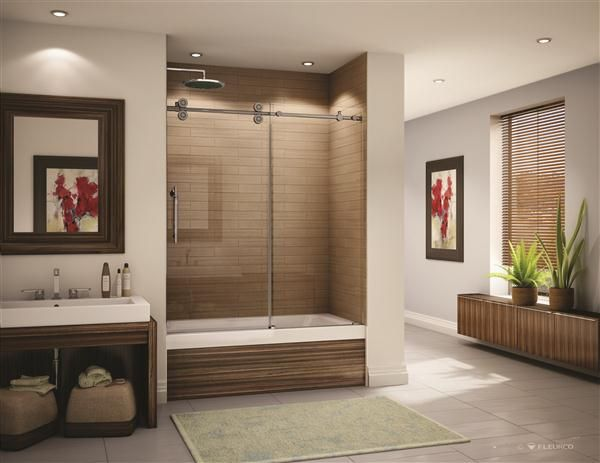 Kinetik Sliding Glass Panels shower doors Kit by Fleurco | Sold by ...
