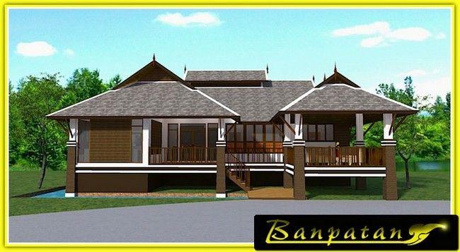 1 Floored Thai House Plan By Banpatan 3 Bed 3 Baths