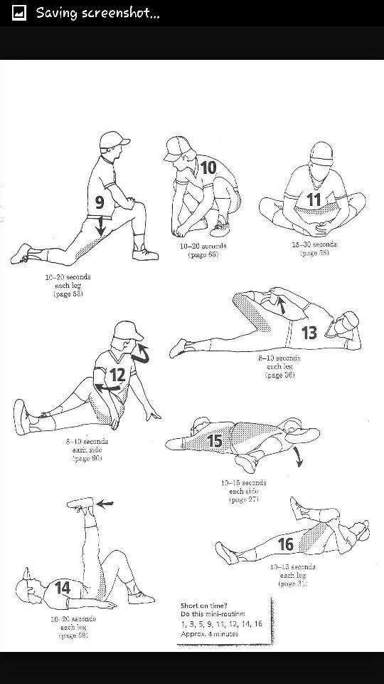 Softball Stretches Softball Baseball