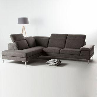 canap d angle tissu 4 places avec t ti res r glables pieds m tal agatha d coration. Black Bedroom Furniture Sets. Home Design Ideas
