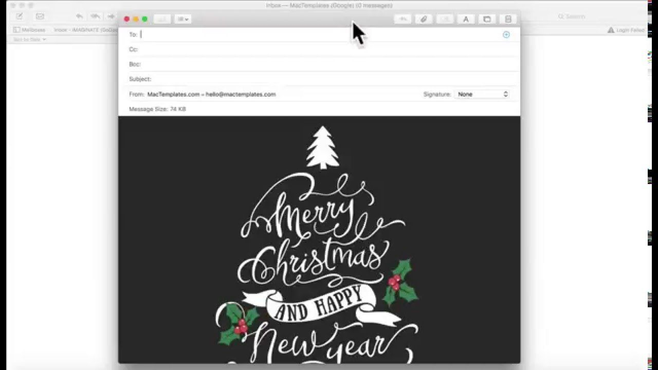 15 Awesome Apple Christmas Card Templates Christmas Card Template Email Christmas Cards Email Cards