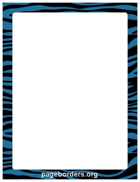 Free Rainbow Zebra Print Border Templates Including Printable Border Paper  And Clip Art Versions. File Formats Include GIF, JPG, PDF, And PNG.  Bordered Paper Printable
