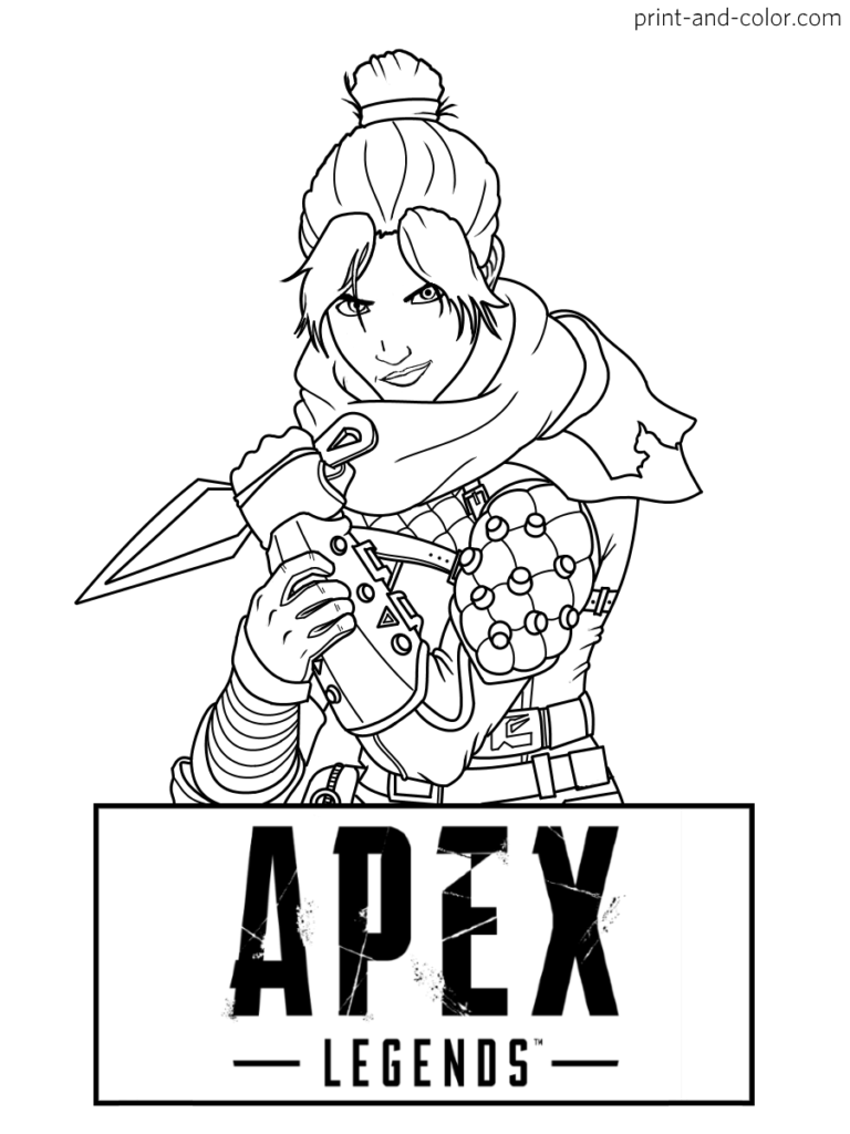 Apex Legends coloring pages in 2020 | Coloring pages ...