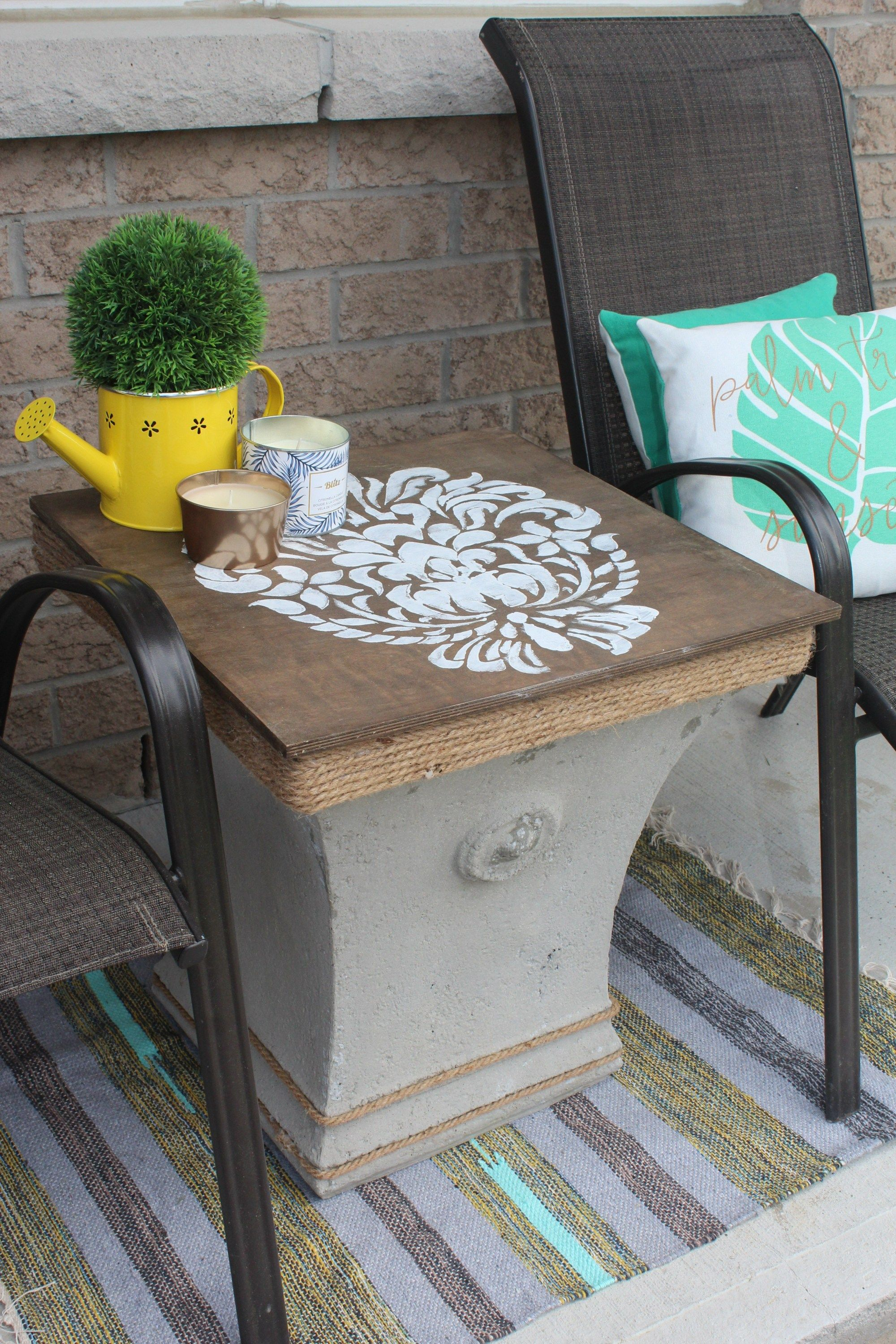 Diy Outdoor Side Table With Storage In 2020 With Images