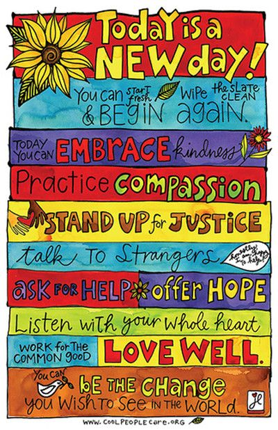Stay motivated each and everyday with this fantastic poster! Let's all work together to make the world a better place!