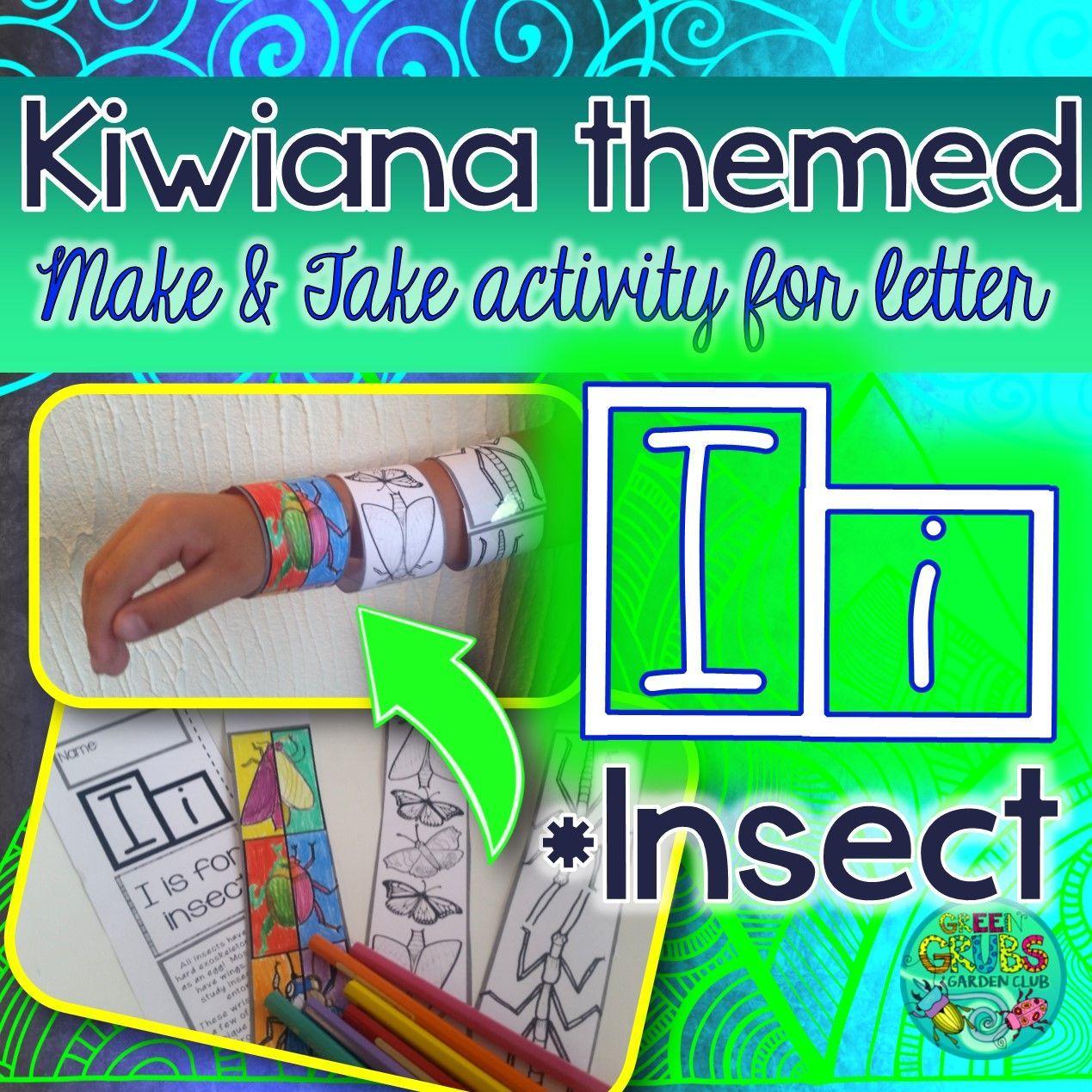 I Insect Kiwiana Themed Make Amp Take Alphabet Set