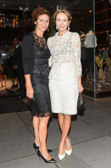 Dolce & Gabbana 5th Ave Flagship Opening: Cristina Viera Newton and Harley Viera Newton in Dolce & Gabbana