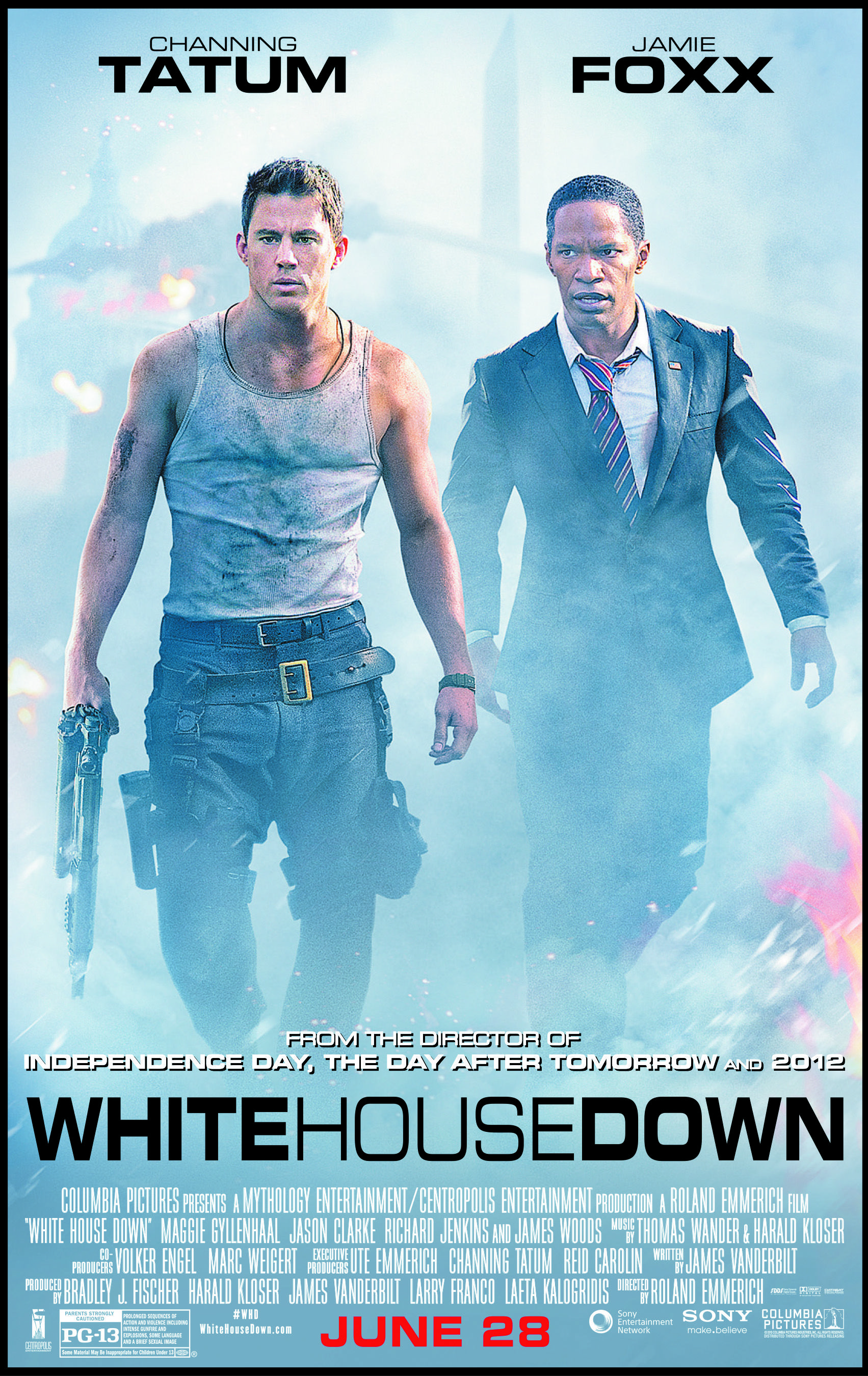 White House Down Final Poster Avec Images Film Film D Action