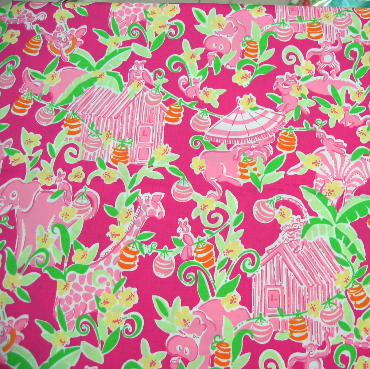 Lilly Pulitzer Fabric Authentic New Lilly Pulitzer Fabric Slaterock House 1 Yard X 57