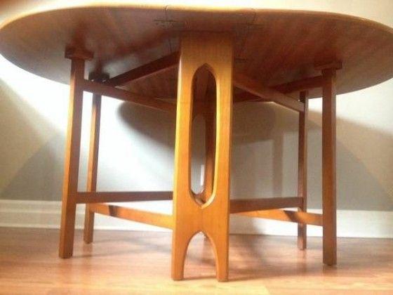 Mid Century Danish Modern Teak Gateleg Dining Table  Furniture Glamorous Danish Modern Dining Room Design Inspiration