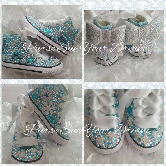 97f667c9a1a134 Disney Frozen Themed Custom Converse Shoes - Frozen Birthday Outfit - Disney  Frozen Shoes