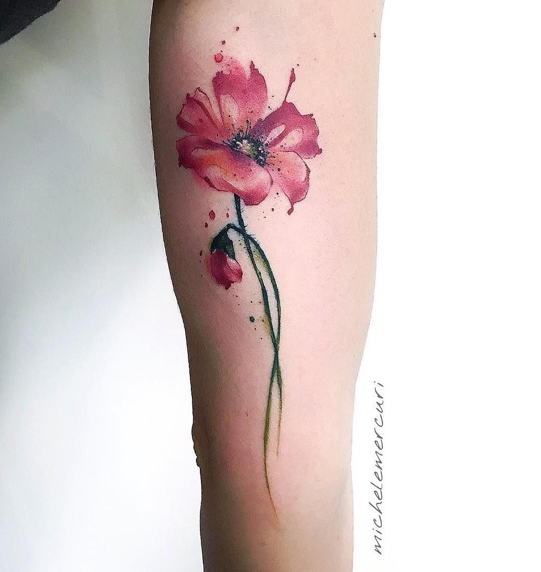 Account Suspended In 2020 Red Flower Tattoos Watercolor Tattoo Flower Poppies Tattoo