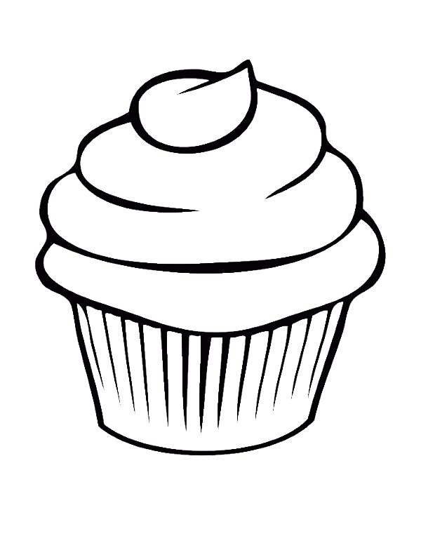 A Drawing Of A Cupcake