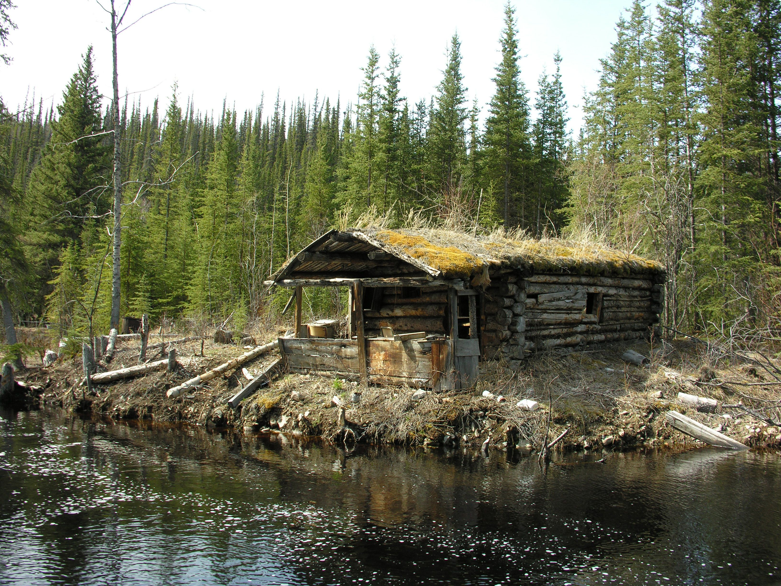 Log cabin in the woods by a lake - Old Cabin In The Woods Old Log Cabin Cabin Forest Log Cabin