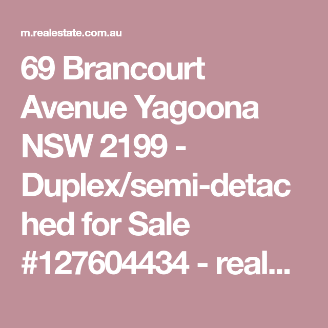 69 Brancourt Avenue Yagoona NSW 2199 - Duplex/semi-detached for Sale #127604434 - realestate.com.au