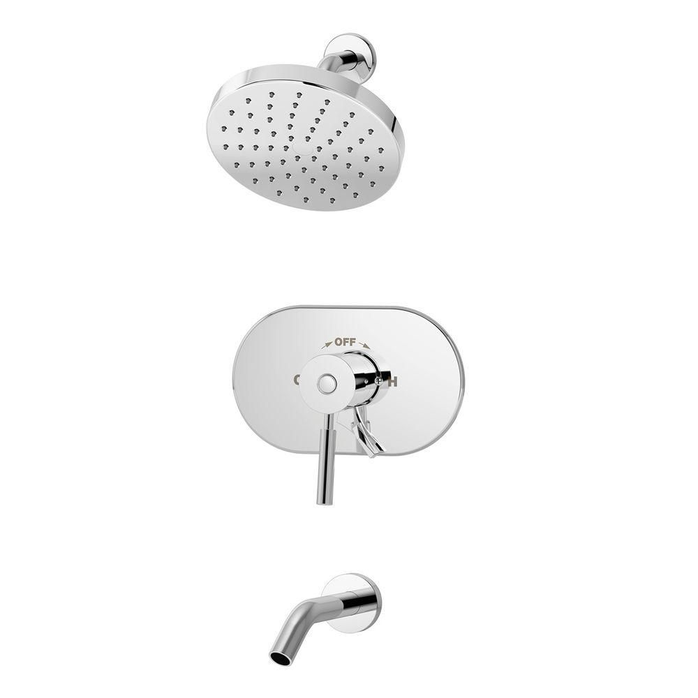 Symmons Sereno Single Handle 1 Spray Tub And Shower Faucet In