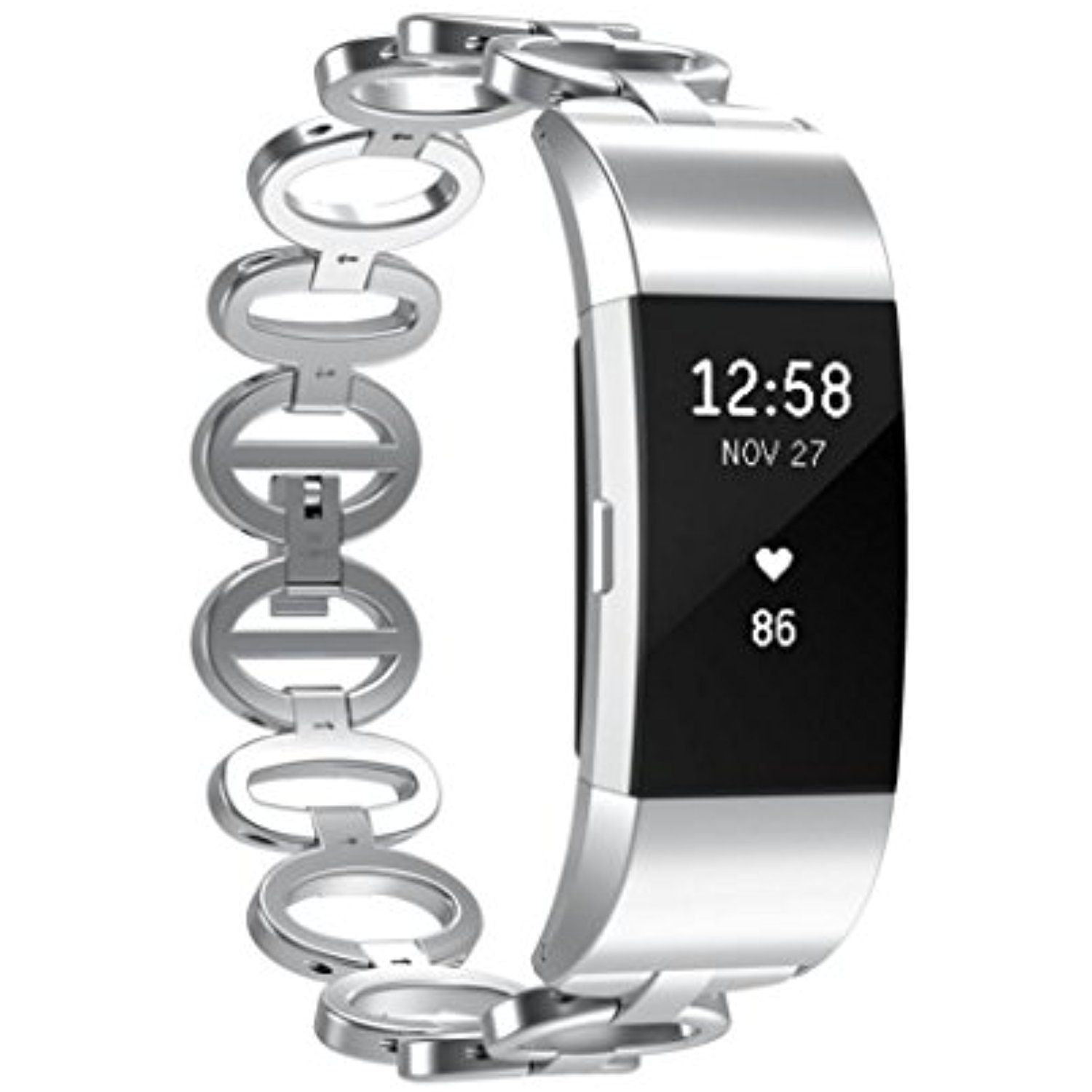 Yrd tech fitbit charge genuine stainless steel bracelet smart