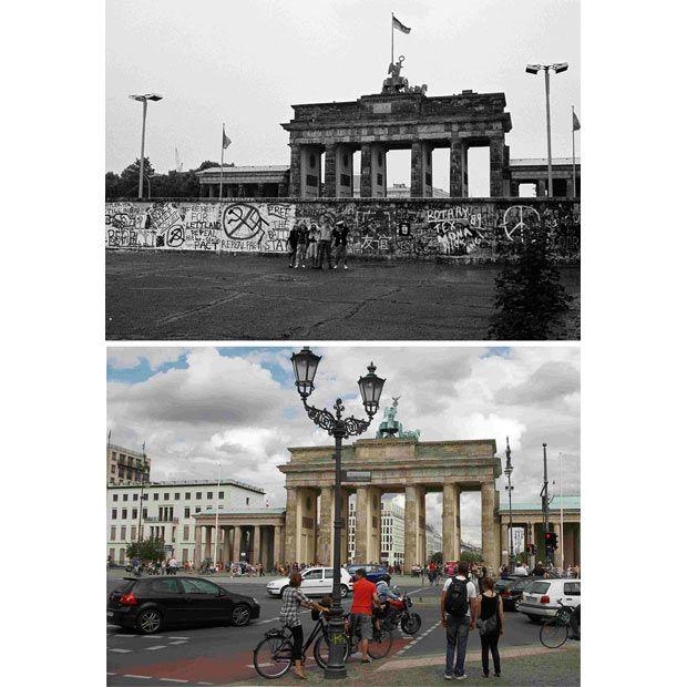 berlin wall now and then wwwpixsharkcom images