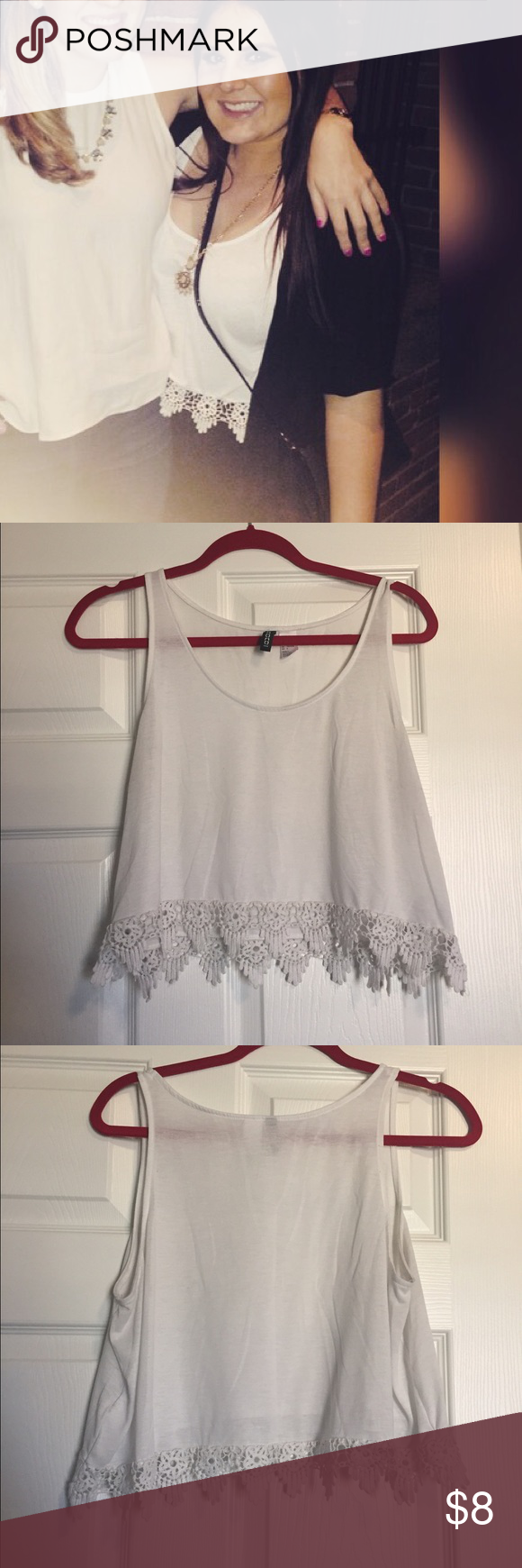 White Crop Top Great condition H&M Tops Crop Tops