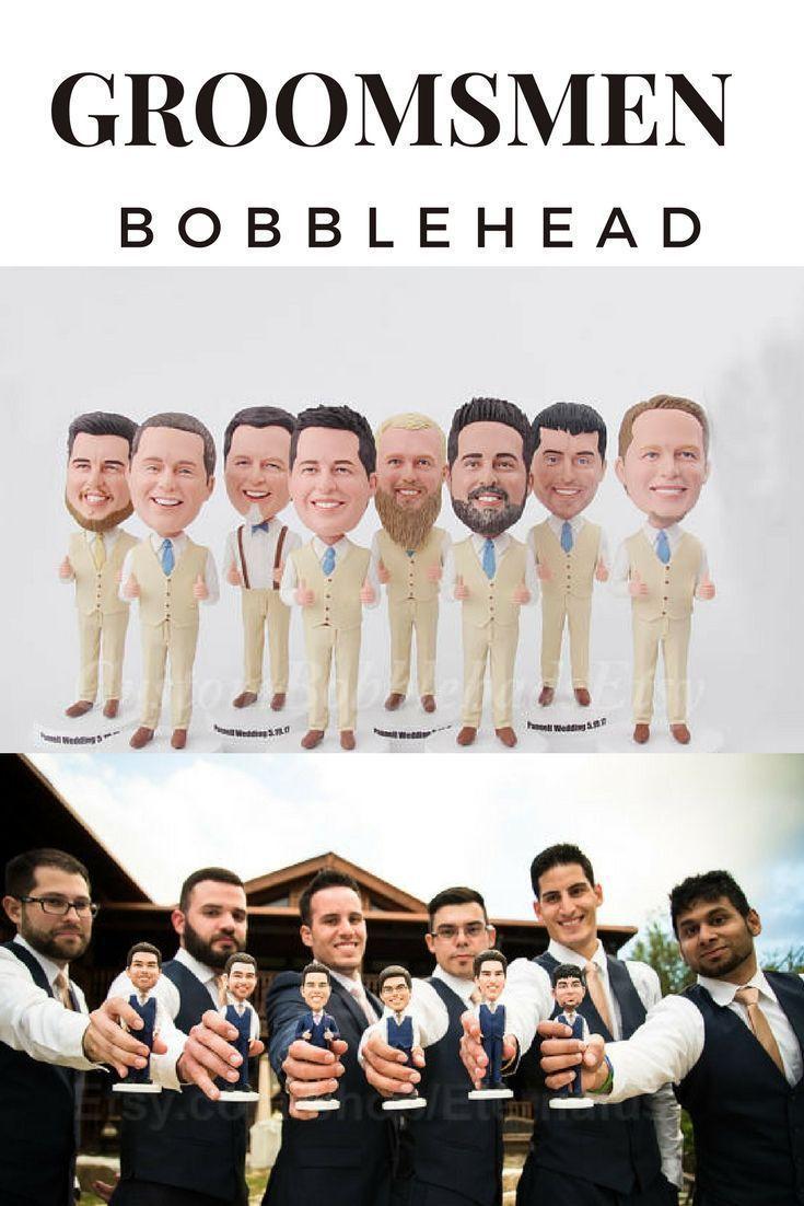 Funny Groomsmen Gift Idea - Personalized Groomsmen Bobblehead - Best ...