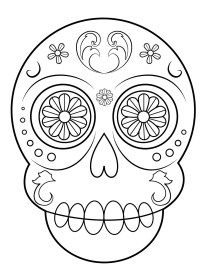 Catrinas Para Colorear 2 Calaveras Para Colorear Imagenes De Calavera Calaveras Mexicanas Para Colorear