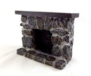 Puppenhaus 1:12 Maßstab Miniatur Möbel Kunstharz Stein Feldstein Kamin