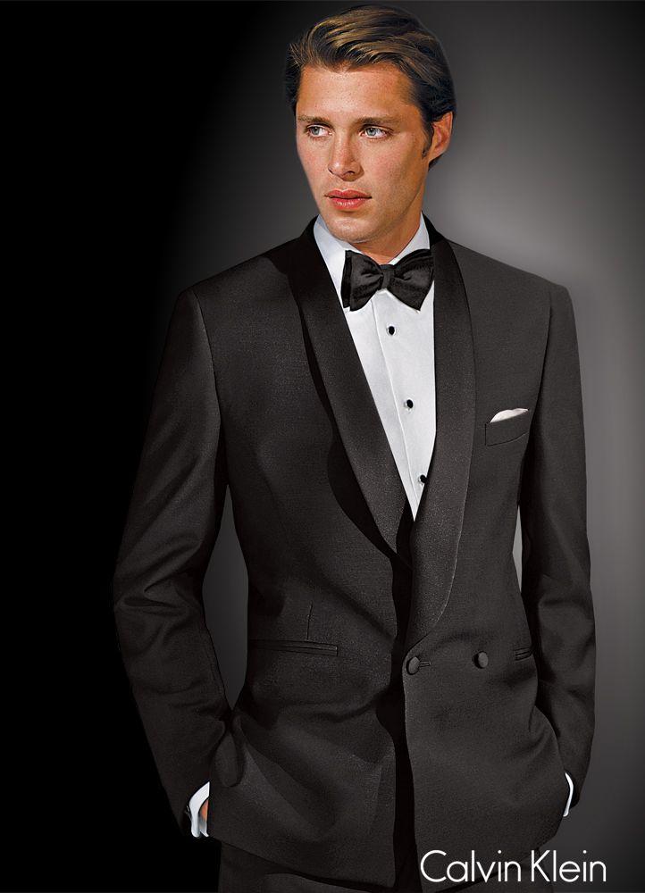 Black \'Allure\' Double Breasted Tuxedo by Calvin Klein   Pánská Móda ...