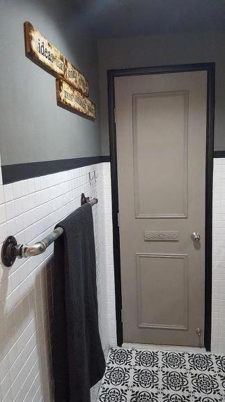 Boho Bathroom #DarkBathroomPaint #Luxurybathroom #Bathroomdecorationideas #bohobathroom #bathroommakeover