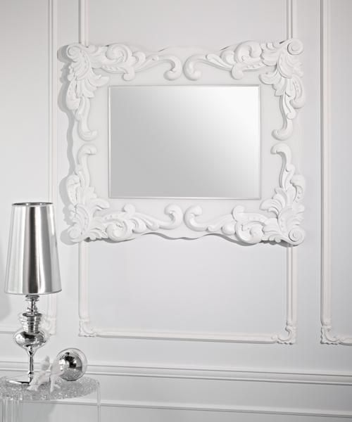 Blanca Framed Rectangle White Decorative Wall Mirror - £675.00 ...