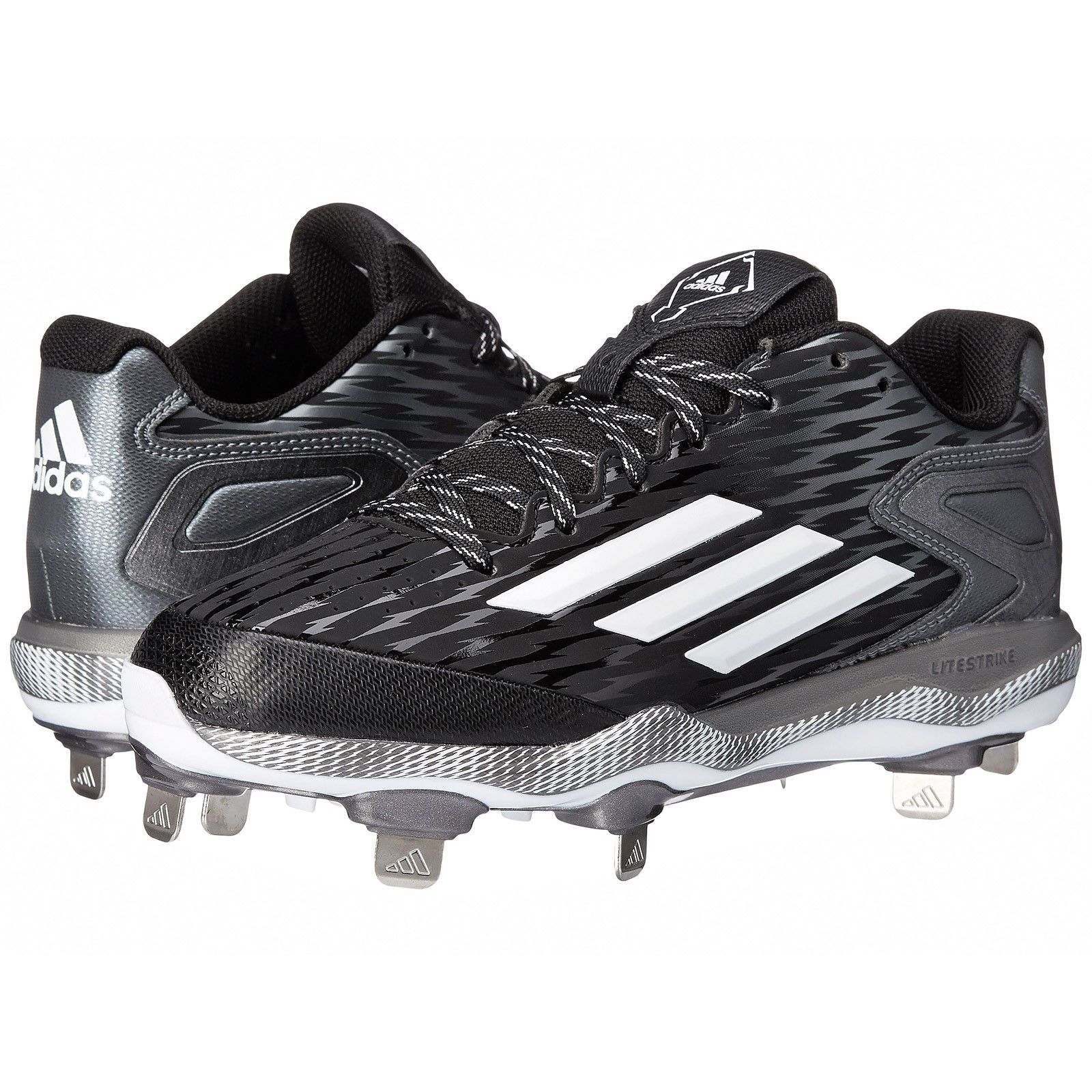 4739232fefcad New Adidas Power Alley 3 Low Metal Mens Baseball Shoes Cleats   Black