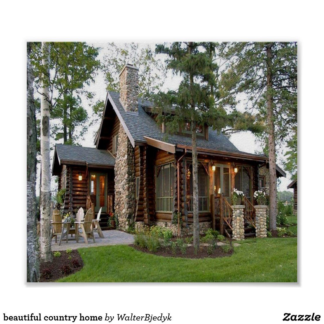 Beautiful Country Home Poster Zazzle In 2020