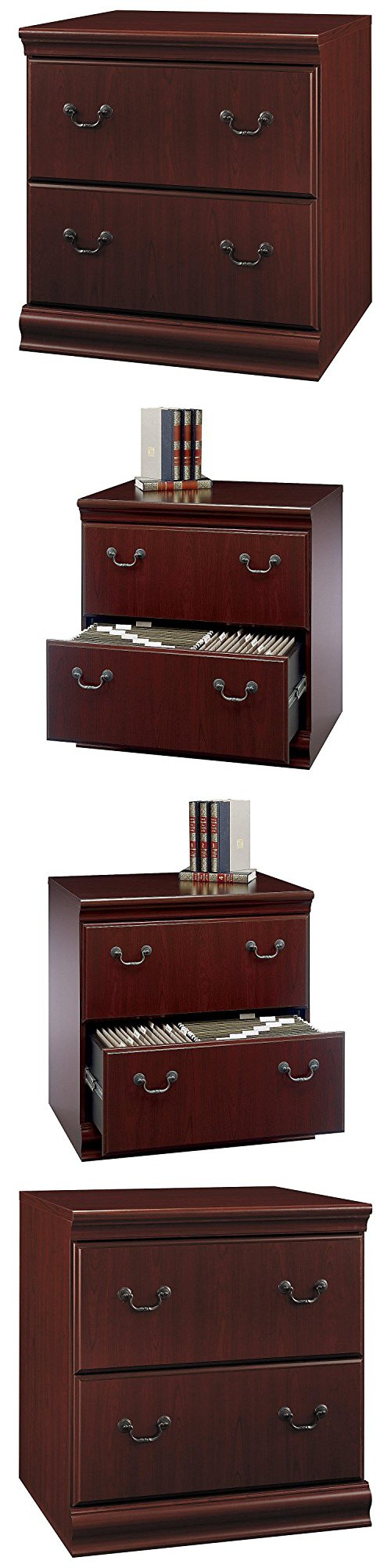Bush Furniture Birmingham Lateral File Cabinet, Harvest Cherry