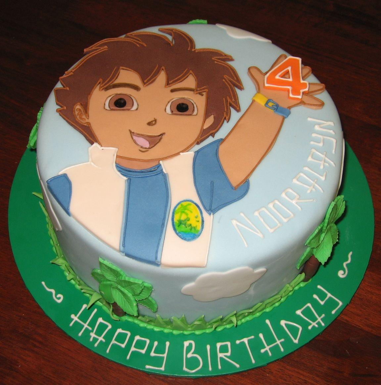 Remarkable Diego Cake Let Them Eat Cake Diego Flat Cake Flat Cakes Cake Personalised Birthday Cards Epsylily Jamesorg
