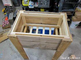 cooler stand wooden cooler wood cooler